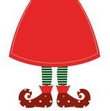Cute Christmas Elf Legs With Skirt Stock Photos