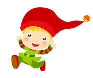 Cute Christmas elf set Stock Photography