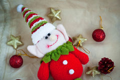 Cute Christmas elf Stock Photo