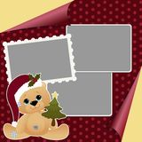 Cute christmas frame template Stock Photos