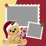 Cute christmas frame template Royalty Free Stock Photos