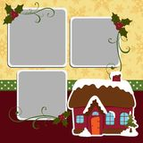Cute christmas frame template Stock Photo
