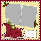 Cute christmas frame template Stock Image