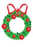 Cute christmas garland Royalty Free Stock Photo