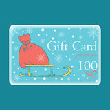 Cute Christmas Gift Cards with Santa bag. Stock Images