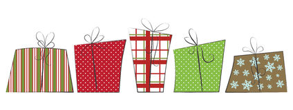 Cute Christmas Gifts Royalty Free Stock Image