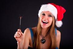 Cute Christmas girl Stock Photography