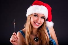 Cute Christmas girl Royalty Free Stock Photos