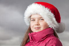 Cute Christmas girl Stock Photos