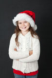 Cute Christmas Girl Royalty Free Stock Photos