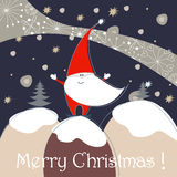 Cute Christmas greeting card Stock Photo