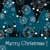Cute Christmas greeting card. Vector cute Christmas greeting card Stock Photo