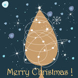 Cute Christmas greeting card Royalty Free Stock Photography
