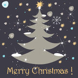 Cute Christmas greeting card Stock Image
