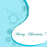 Cute Christmas greeting card. Vector cute Christmas greeting card Stock Photography