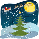 Cute Christmas greeting card Royalty Free Stock Photo
