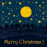 Cute Christmas greeting card Royalty Free Stock Photo