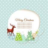Cute Christmas greeting card Royalty Free Stock Image