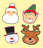 Cute christmas heads Stock Photography