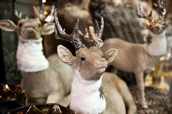 Christmas deer toys figurines for sale Stock Photo