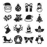 Cute christmas icons Royalty Free Stock Image