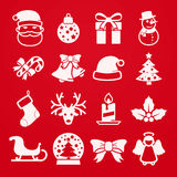 Cute christmas icons Stock Photos