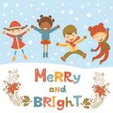 Cute Christmas kids Royalty Free Stock Photo