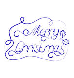 Cute Christmas lettering, handmade calligraphy Stock Image