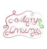 Cute Christmas lettering, handmade calligraphy Royalty Free Stock Photo