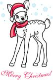 Cute Christmas little deer Stock Photo
