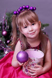 Cute Christmas little girl Royalty Free Stock Photo