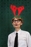 Cute Christmas nerd Royalty Free Stock Photo