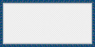 Cute Christmas or new year banner with candy cane, berries pattern isolated. Cute Christmas or new year border with xmas candy cane and berries pattern on royalty free illustration