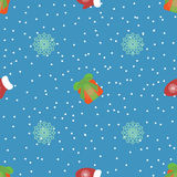 Cute christmas or new year pattern. Vector seamless texture Royalty Free Stock Images