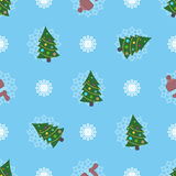 Cute christmas or new year pattern Stock Images