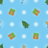 Cute christmas or new year pattern. Vector seamless texture Stock Images