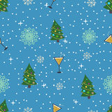 Cute christmas or new year pattern. Vector seamless texture Stock Photography