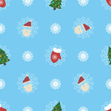 Cute christmas or new year pattern Royalty Free Stock Images