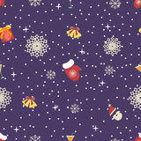 Cute christmas or new year pattern. Vector seamless texture Royalty Free Stock Photo