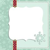 Cute christmas new Year postcard template Royalty Free Stock Image