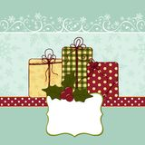 Cute christmas new Year postcard template Royalty Free Stock Photo