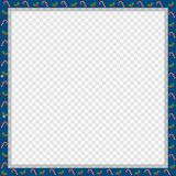 Cute Christmas or new year square frame with candy cane, berries pattern isolated royalty free illustration