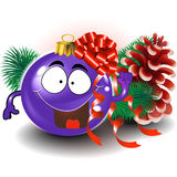 Cute christmas ornament. Background for your text Royalty Free Stock Photo
