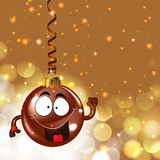 Cute christmas ornament. Background for your text Royalty Free Stock Image