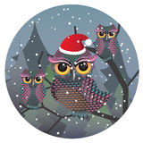 Cute Christmas Owl Royalty Free Stock Image