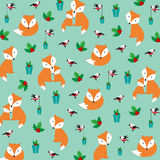 Cute Christmas pattern Stock Image