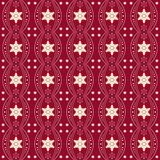 Cute Christmas patterns. Beige and red seamless festive texture stock illustration