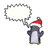 Cute christmas penguin cartoon Royalty Free Stock Photography