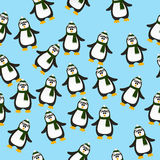 Cute Christmas penguin. Very high quality original trendy vector seamless pattern with winter holidays happy cute Christmas penguin vector illustration