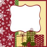 Cute christmas postcard template Stock Photography